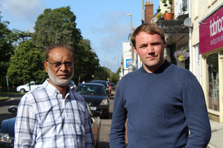 Tom & Abul on Old Lynchford Rd (Rushmoor Liberal Democrats)