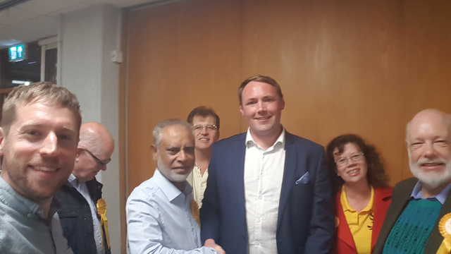 Thomas Mitchell wins the St Marks by-election (Rushmoor Liberal Democrats)
